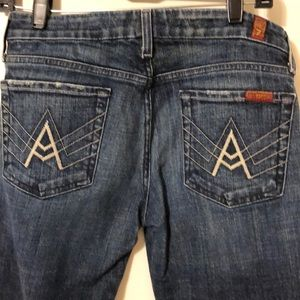 7 For All Man Kind A Pocket Jean Size 28